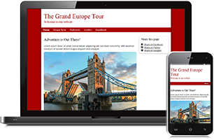 city-travel website example